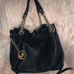 Black Gold Chain Michael Kors Purse